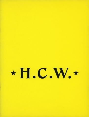 Catalog cover, 'H.C.W.: Recent Sculpture by H.C. Westermann,' Allan Frumkin Gallery, 1963.