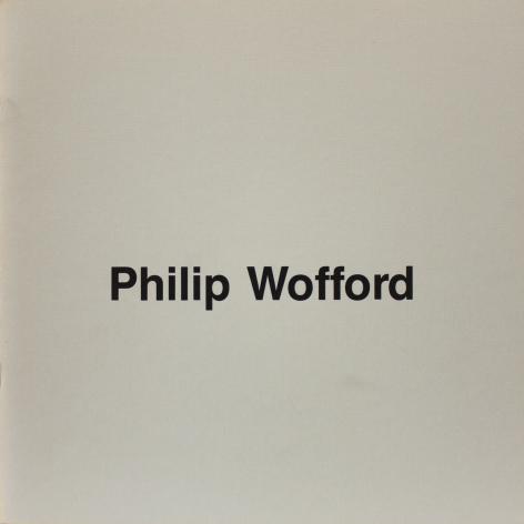 Catalog cover, 'Philip Wofford: New Paintings,' Frumkin/Adams Gallery, 1988