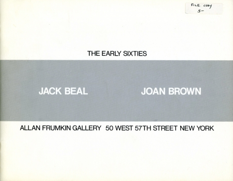 Catalog cover, 'Jack Beal, Joan Brown: The Early Sixties,' Allan Frumkin Gallery, 1984
