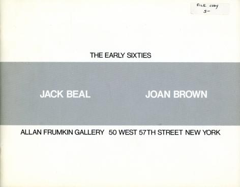 Catalog cover, 'Jack Beal, Joan Brown: The Early Sixties,' Allan Frumkin Gallery, 1984
