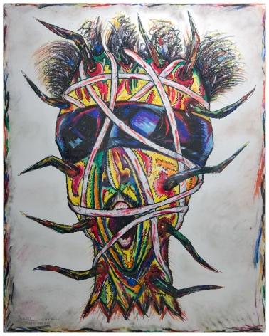 Self-Portrait: Bound Head  1984