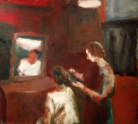 Elmer Bischoff, Girl Geting a Haircut, 1962