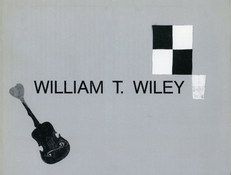 Catalog cover, 'William T. Wiley: Recent Paintings and Watercolors,' Allan Frumkin Gallery, 1986.