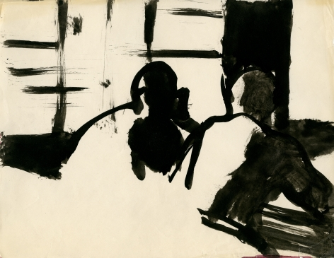 Untitled (Two Figures in Library) c. 1960