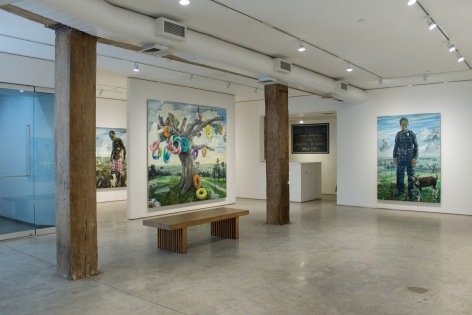 Installation View, Amer Kobaslija, Florida Diaries, George Adams Gallery, New York, 2019.
