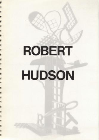 Catalog cover, 'Robert Hudson: Unique Polychrome Bronzes,' Allan Frumkin Gallery, 1986