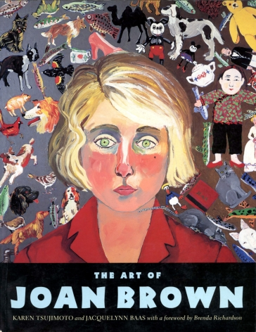 Catalog cover, 'The Art of Joan Brown,' University of California Press, 1998.