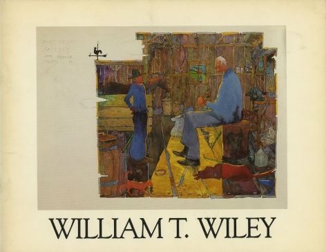 Catalog cover, 'William T. Wiley,' Emily Carr College of Art, 1981.