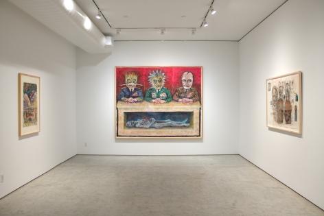 Installation View, Robert Arneson, The Anti-War Works: 1982-1986, George Adams Gallery, New York, 2019.