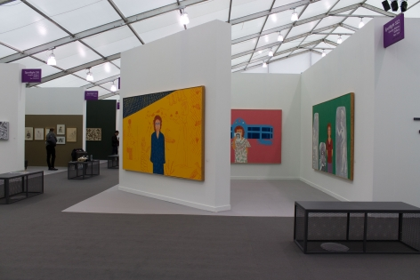 Installation View, Joan Brown, Frieze New York 2019, George Adams Gallery, New York, 2019.