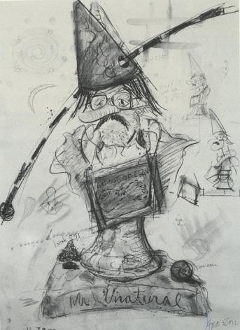 Robert Arneson Study for 'Mr Unatural'