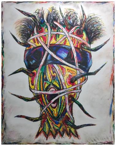 Luis Cruz Azaceta, Self-portrait - Bound Head, 1984