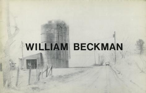 Catalog cover, 'William Beckman: Landscape Pastels,' Allan Frumkin Gallery, 1982.