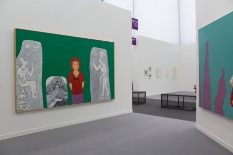 Installation View, Joan Brown,Frieze New York,George Adams Gallery, New York, 2019.