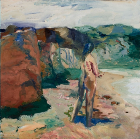 Elmer Bischoff, Figure with White Lake, 1964