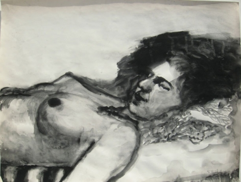 Elmer Bischoff, Reclining Nude, 1973