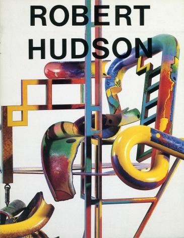 Catalog cover, 'Robert Hudson: New Polychrome Sculpture,' Allan Frumkin Gallery, 1984