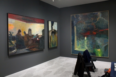 Installation View, Elmer Bischoff, ADAA: The Art Show, Park Avenue Armory, New York, 2019.