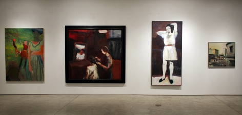 Installation view, Elmer Bischoff, Figurative Paintings, George Adams Gallery, New York, 2015.