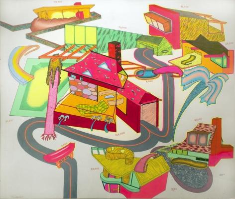 Peter Saul  Suburban Houses #1, 1969