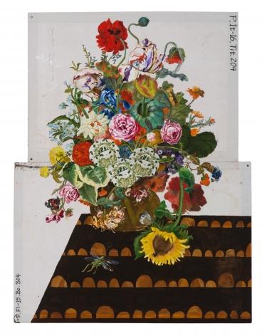Katherine Sherwood, Spent Sunflower (after z Ruysch) 2019