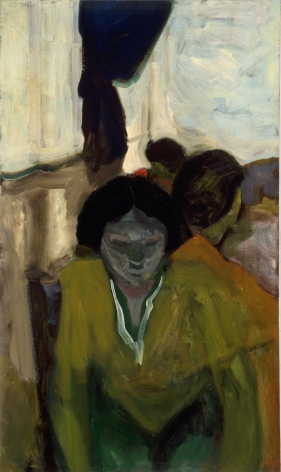 Figures with Blue Curtain 1955