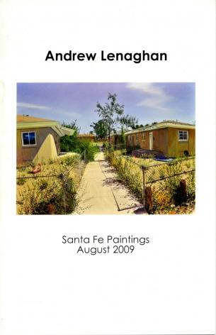 Catalog cover, 'Andrew Lenaghan: Santa Fe Paintings,' William Segal Gallery, 2009