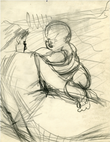 Untitled (Study for On The Grass) c. 1954