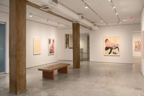 Installation View, Joan Brown, Drawn from Life: Works on Paper, 1970-1976, George Adams Gallery, New York, 2020.