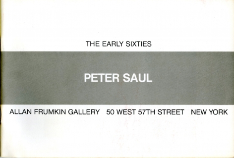 Catalog cover, 'Peter Saul, Red Grooms: The Early Sixties,' Allan Frumkin Gallery, 1983