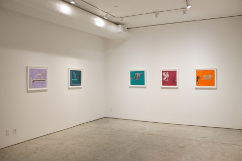Installation View, Joan Brown, The Students, ​George Adams Gallery, New York, 2019.