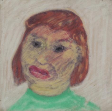 Peter Saul  Woman in Green Shirt, c. 1957