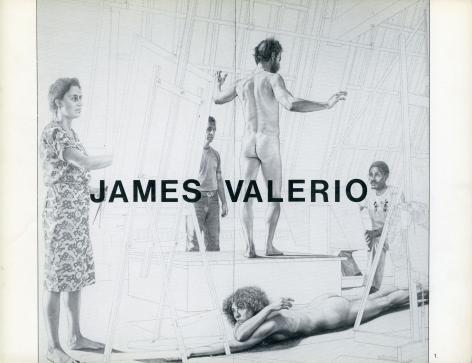 Catalog cover, 'James Valerio: New Paintings and Drawings,' Allan Frumkin Gallery, 1983