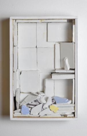 "William Corwin,Mihrab 5, vitrine box, plaster, and acrylic, 12"" x 8"" x 3.25"", 2011"
