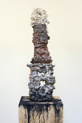 The totem, 2016, Glazed and wood-fired ceramics