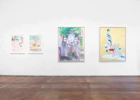 "Installation View, Reeve Schley, ""Seven Summers,"" 2017"