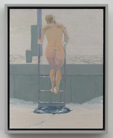 Ice Bather; Spring Day, 2015, oil on linen laid on panel