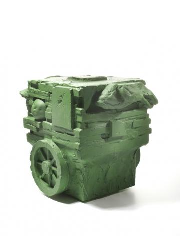 "William Corwin,Juggernaut or Rath Yatra, hydrocal, 9.5"" x 7"" x 7.5"", 2013"