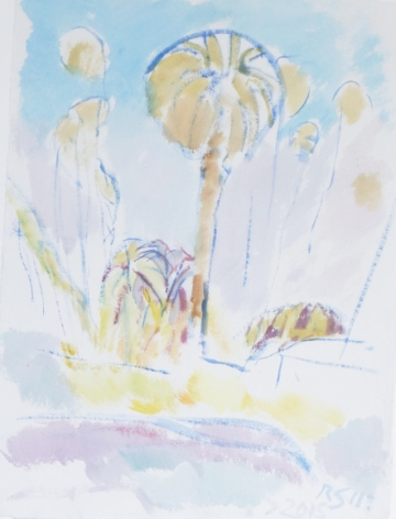 Reeve Schley, LA Palm Tree, 2016