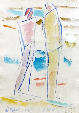 Dancing Lines, 2016, watercolor on paper