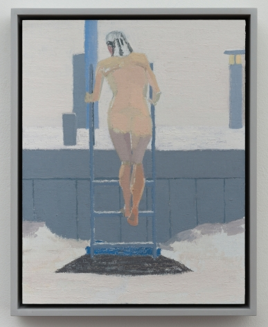 Ice Bather; Afternoon, 2015, oil on linen laid on panel