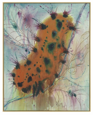 CATERPILLAR 2019 Acrylic and oil pastel on canvas