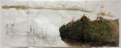 Bog, 2010-2012, Pencil, Ink, Watercolor on paper