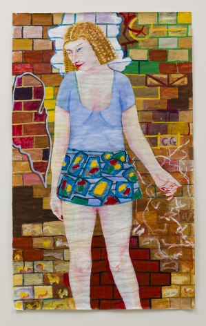 Shy Girl, 2013, acrylic on paper and canvas