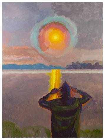 Graham Nickson, Yellow Rise: Sun Watcher,2017