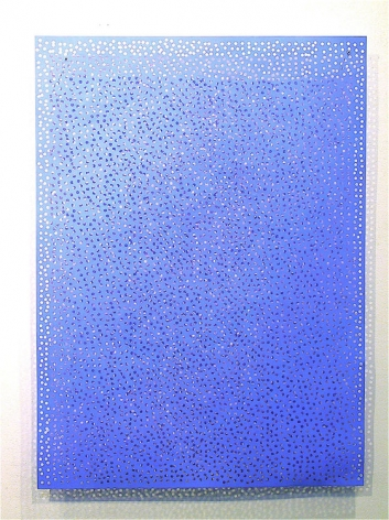 DIAPHAN 18, COLBALT BLUE/ULTRAMARINE BLUE, 2006, Acrylic on aluminum
