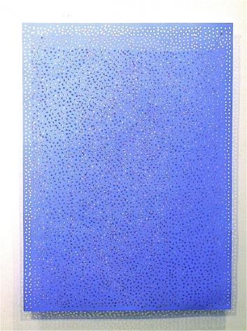 DIAPHAN 18, COLBALT BLUE/ULTRAMARINE BLUE, 2006, Acrylic on aluminum