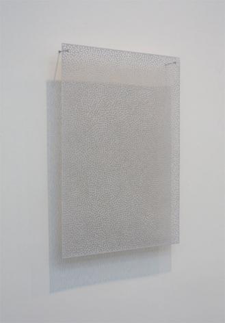 DIAPHAN 46, GRAY WHITE/PTHALO BLUE WHITE, 2009, Acrylic on aluminum