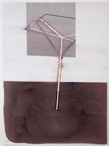 ROAD WORK, 2007, Latex, ink, pumice on canvas