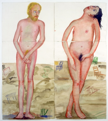 ADAM AND EVE, 2005, Watercolor on paper